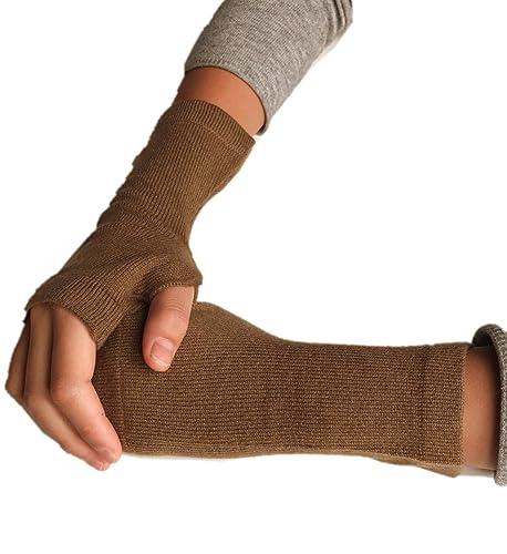 Prettystern - Wristwarmers puños de color sólido 100% lana de cachemira suave y caliente - selección...