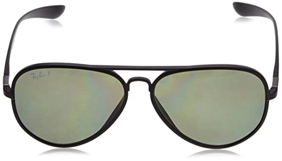 7784f60832 Amazon.com  Ray Ban RB4180 Liteforce Tech Sunglasses 601S 9A Matte Black  (Polarized Green Lens)  Ray-Ban  Clothing