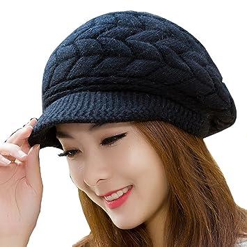 como serch obtener online calidad autentica Tukistore Caliente Gorro de Punto Crochet Moda Boina de ...