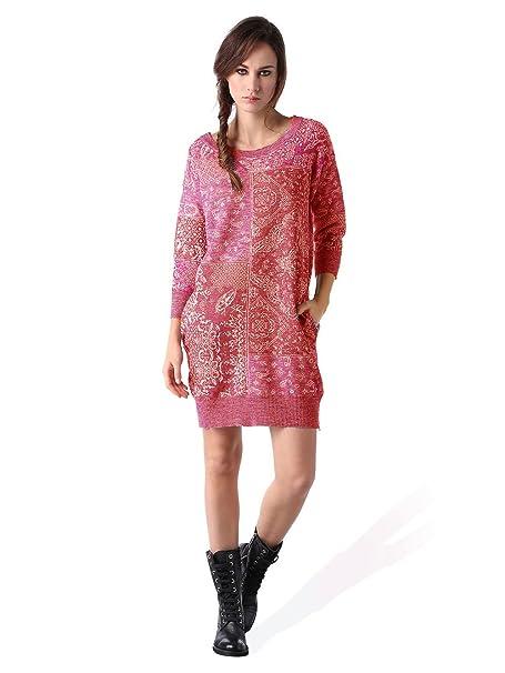 97d2fd34112e Diesel M-KERCHIEF ABITO donna abito abito in maglia (Rosso