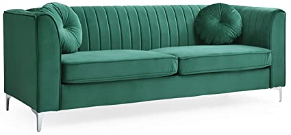 Amazon Com Glory Furniture Delray G792a S Sofa Green Living Room