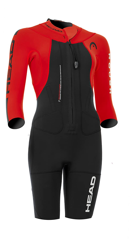 d5da1d27b7 HEAD Women swimrun Rough Swim Shorty Wetsuit - Black/Red: Amazon.co.uk:  Sports & Outdoors