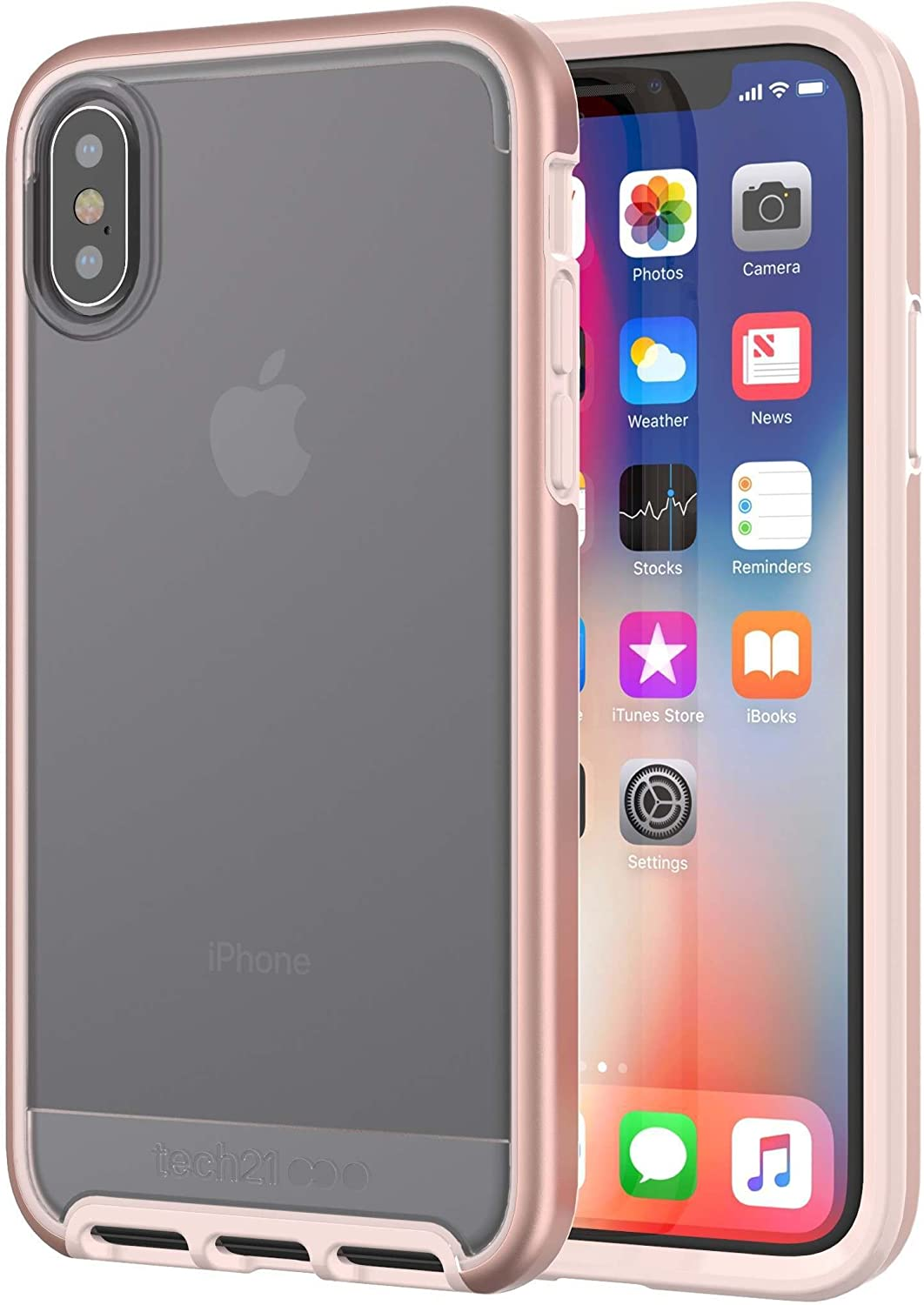 tech21 Evo Elite Phone Case for iPhone X and XS - Rose Gold