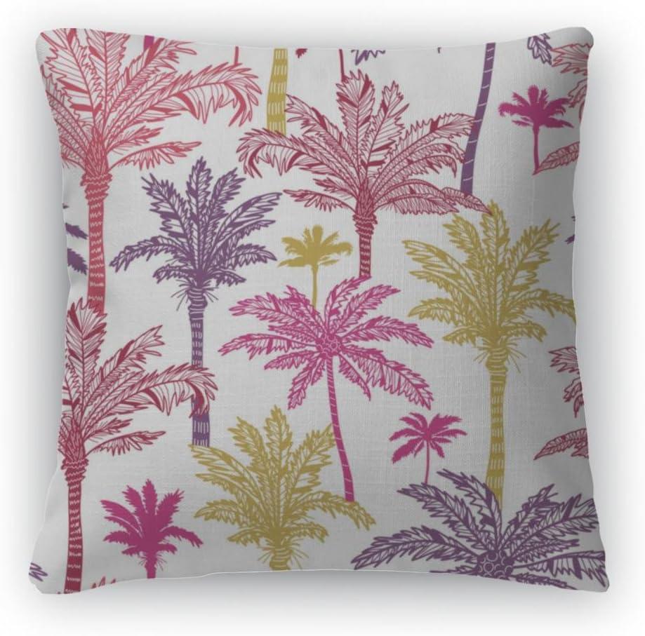 Gear New Palm Trees Pattern Throw Pillow, Poplin, 26×26, GN8186