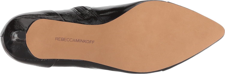 Rebecca Minkoff B(M) Womens Siya B07C52ZJBX 7.5 B(M) Minkoff US|Black Shiny Leather 7ed798
