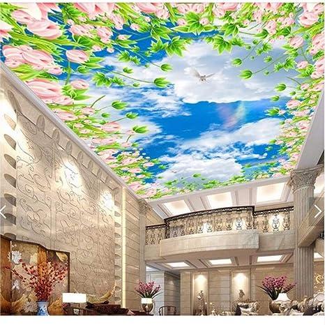 Amazon Com Pbldb 3d Ceiling Murals Wallpaper Custom Photo Non