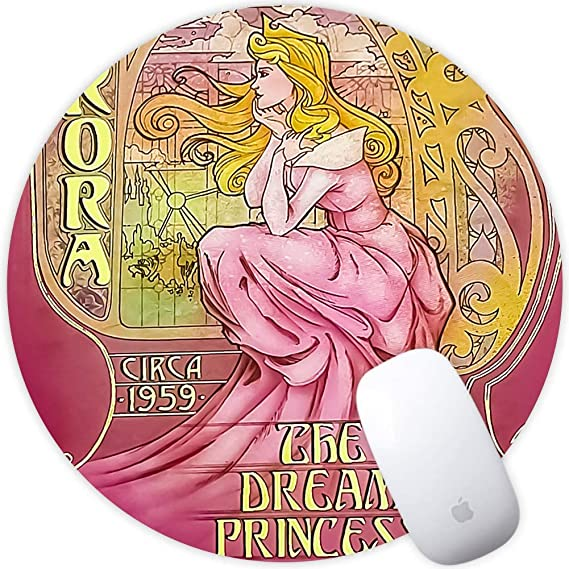 Gaming and Home DISNEY COLLECTION Round Mouse Pad The Beauty Light Slim Skid Proof High Mouse Tracking for Office