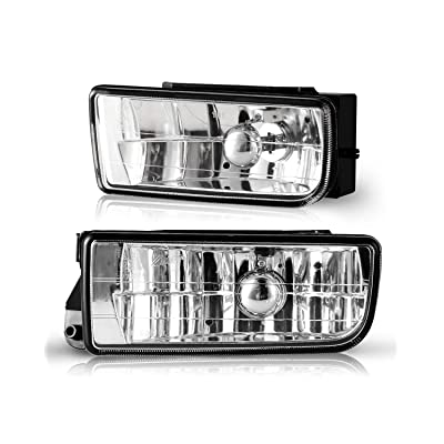 Fog Lights for BMW M3 (E36) 3 Series 1992 1993 1994 1995 1996 1997 1998 1999, Lamps Replacement Assembly with H1 12V 55W Bulbs-1 Pair (Clear lens): Automotive