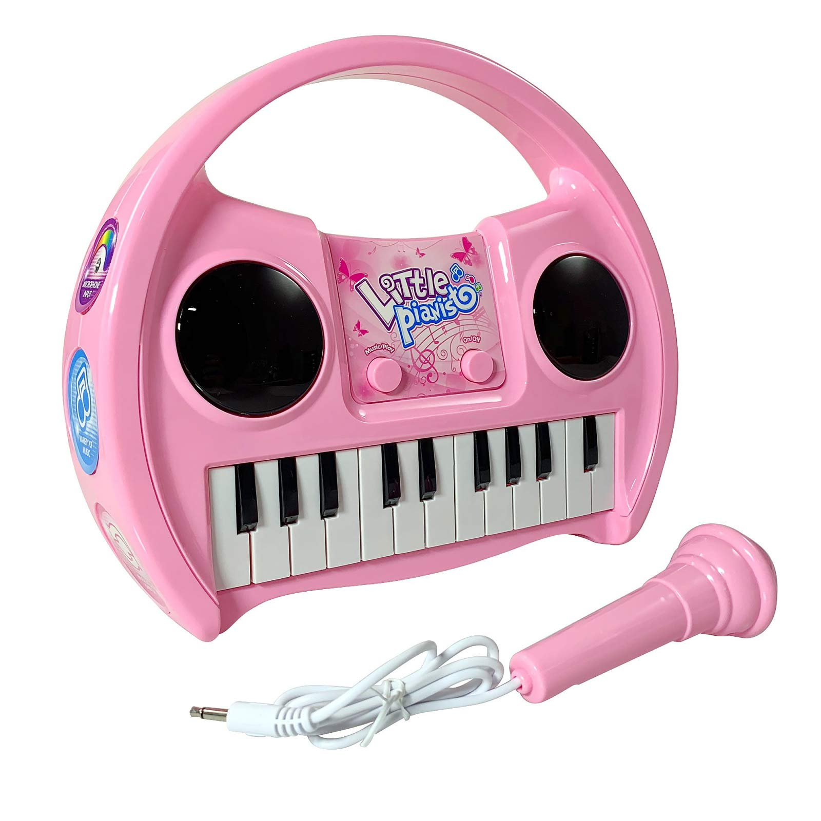 KidPlay Products Little Pianist Singing Musical Karaoke Lights Up Keyboard by KidPlay Products (Image #6)