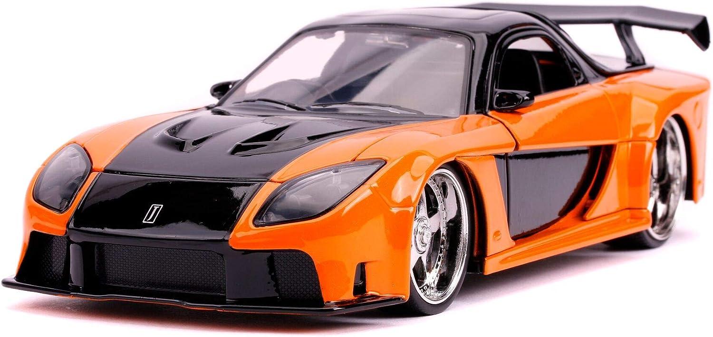 Hans Mazda RX-7 Orange and Black Fast /& Furious Movie 1//24 Diecast Model Car by Jada 30732