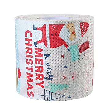 KOBWA Papel de impresión de Navidad, diseño de temática de Color, Toallas de Papel para Inodoro, Mesa de Comedor de Uso Diario: Amazon.es: Hogar