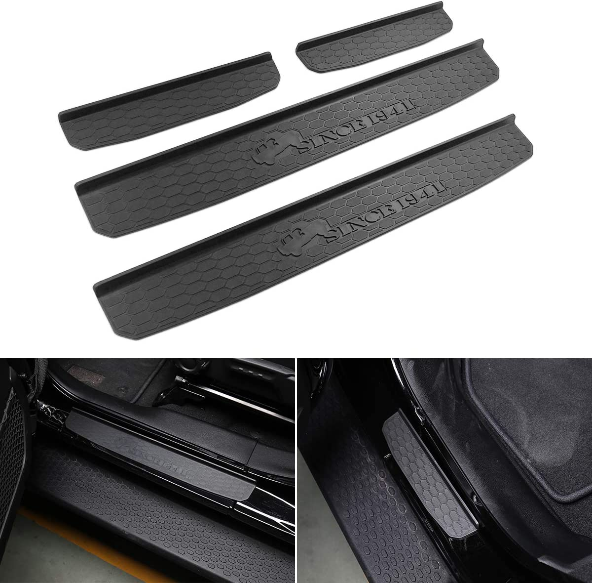 Door Sill Guards Entry Plate Cover for 2018-2020 Jeep Wrangler JL Gladiator JT