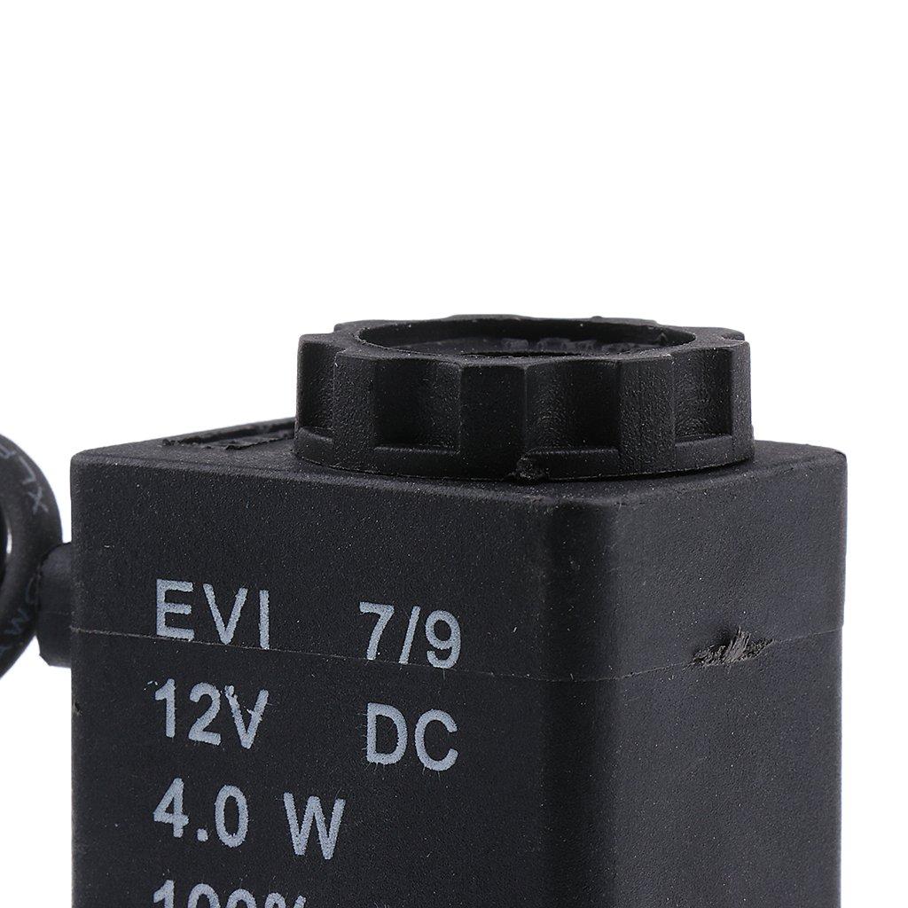 1//4 Fil Pour Gaz Dair Deau MagiDeal Electrovanne /Électrique En Aluminium Ferm/ée 12V DC