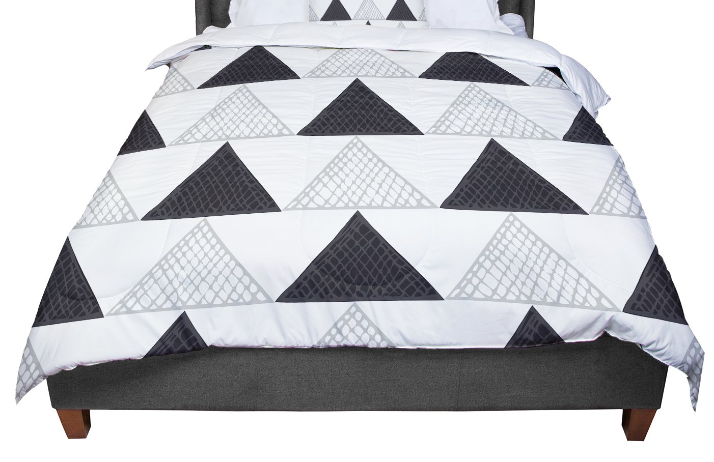 KESS InHouse Laurie Baars 'Textured Triangles' Geometric Abstract King / Cal King Comforter, 104' X 88'