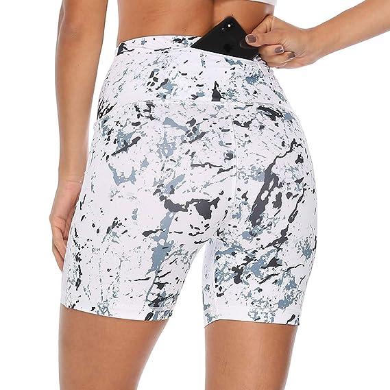 Pantalones Cortos de Yoga de Cintura Alta Estampado de Caderas ...