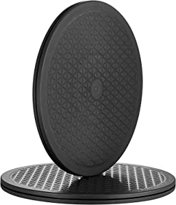 12 Inch Heavy Duty Rotating Swivel Stand with Steel Ball Bearings - Lazy Susan Turntable for Flat Panel Monitors, Potted Plants,TV's, Stereo Speakers (2 Pack)