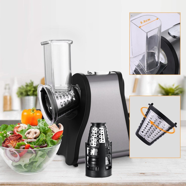 diaped picadora profesional Salad Maker Chopper con de One Touch Control y 4 gratuita Instalaciones para frutas, verduras y queso 4 C: Amazon.es: Hogar