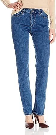 Lee Black Womens 8 Petite Straight Leg Classic Fit Stretch Jeans