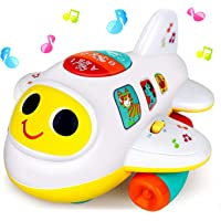 Baby Toys 6 to12 18 Months Light Up Moving Musical Airplane Toys for 1 2 3 year old Boys Girls Birthday Gifts…