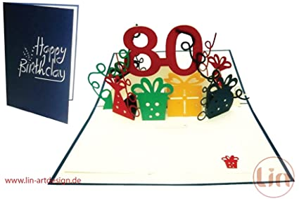 Lin Pop Up tarjeta 3d tarjeta de felicitación tarjeta de ...