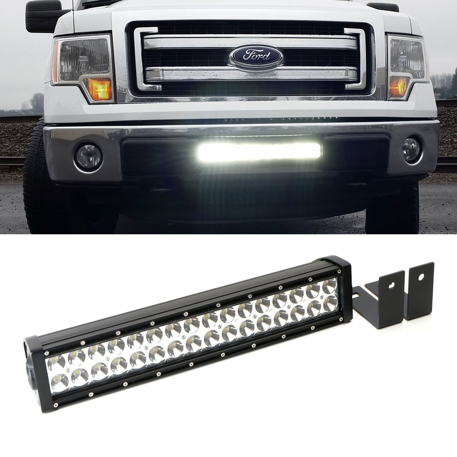 71O0aB9tT5L._SL1500_ amazon com ijdmtoy complete high power led light bar w lower rigid wiring harness for ford raptor at gsmx.co