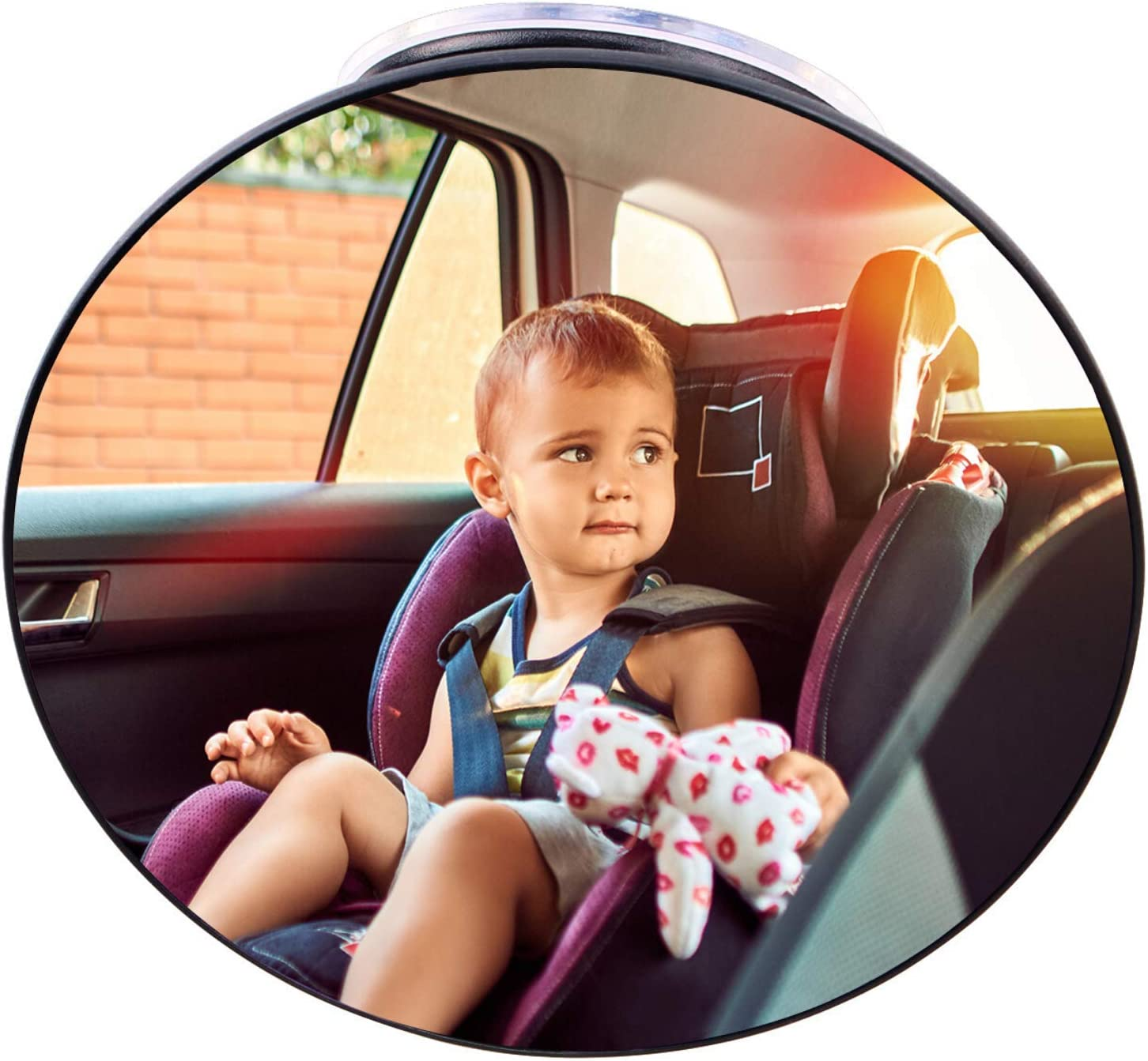 Baby Car Mirror Suction Cup, Forward Facing Baby Rear View Mirror for Car