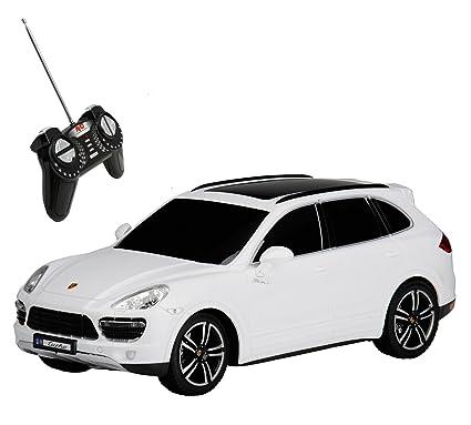 RC Modelo Porsche Cayenne Turbo teledirigido con luz 1: 18, color blanco