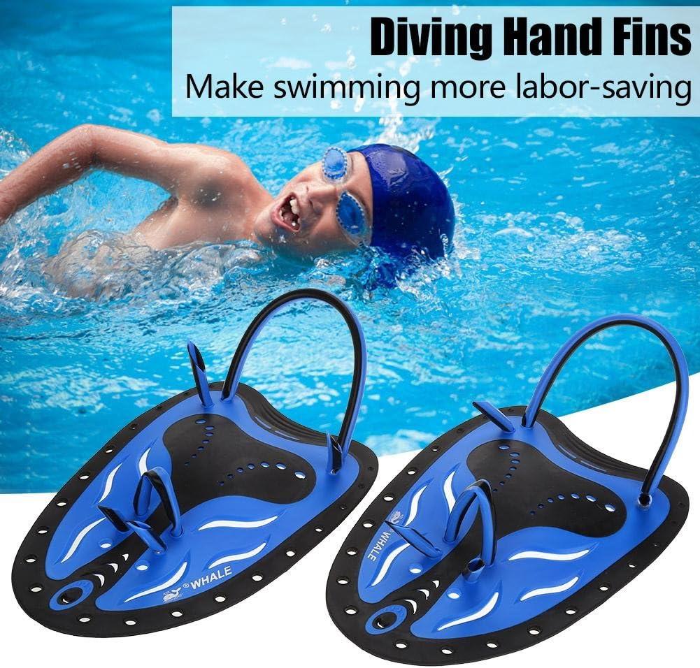 VGEBY Schwimmen Hand Paddel Einstellbare Tauchen Ausbildung Hand Fin Flippers Handschuhe Ausr/üstung