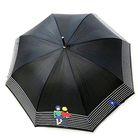 Paraguas de caña Joy Heartazul negro (caminata).