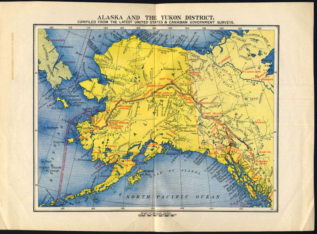 Map of Alaska and the Yukon District Canada 1897 at Amazon\'s ...