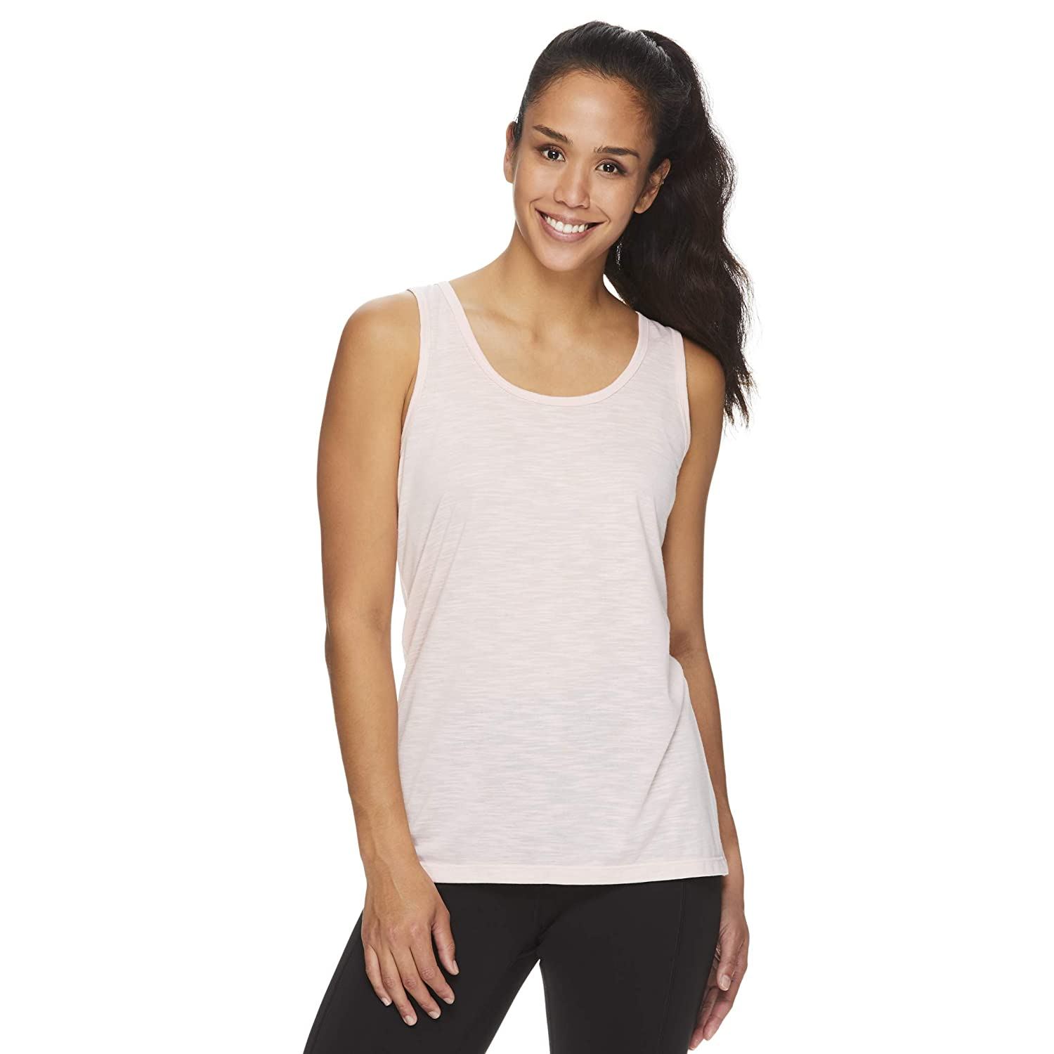 Gaiam Womens Open Back Yoga Tank Top Flowy Relaxed Fit Workout Shirt /& Gym Top