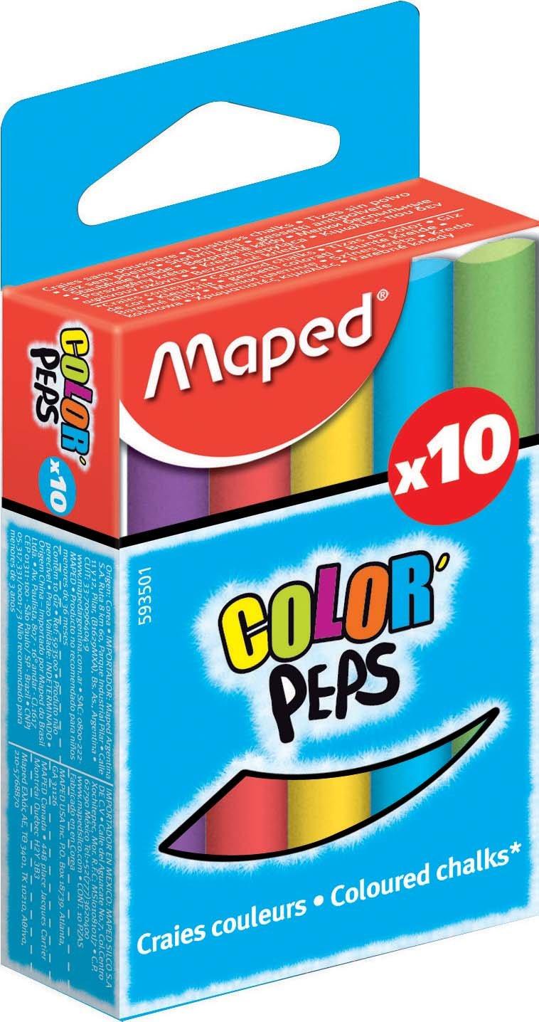 rond Maped m593501/ assortis Lot de 10 /Craie Color Peps