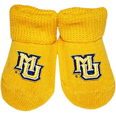 Marquette University Newborn Baby Bootie Sock