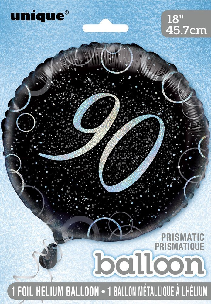 Unique Party 55804-18 Glitz Blue Foil 13th Birthday Balloon