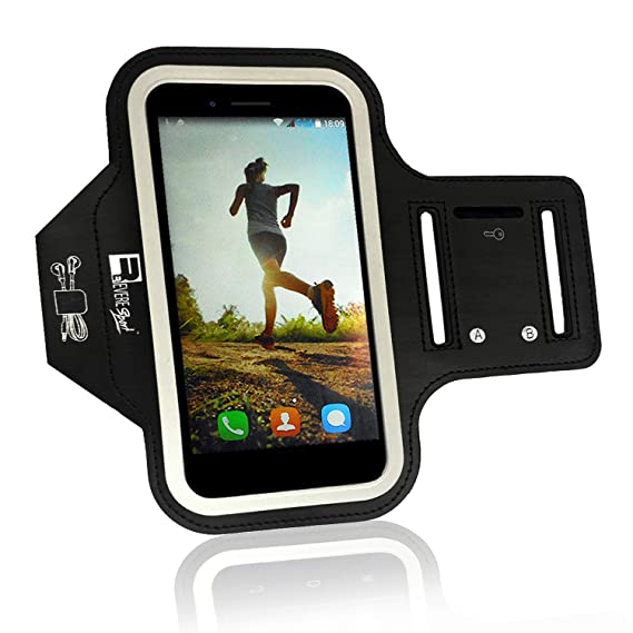 quality design 62a22 91671 iPhone 7 Running Armband (Fingerprint ID Access). Sports & Exercise Phone  Case Holder fits Small - Large Arms