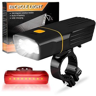 Waterproof Mini Head Light LED USB Rechargeable Bicycle Bike Front Lamp 6500K