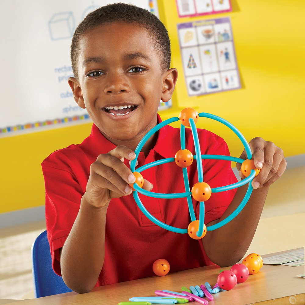 Learning Resources LER1776 Geometric Shapes Building Set