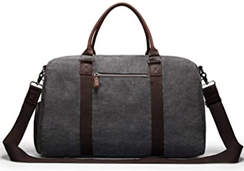 d8b656f290b Image not available for. Color  Weekender Overnight bag Canvas Travel  Duffel Bag with shoes compartment for men and women Unisex Oversized