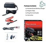 Suuwer Smart Battery Charger, 6V/12V 1.25A Trickle