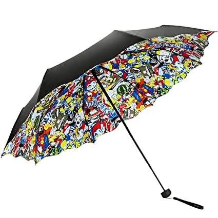 Paraguas Sombrillas Rain Gear Plegable Anti-UV plegable Paraguas Elegante y hermoso UmbrellaRain / Folding