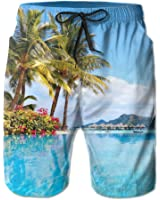 Beach Holiday Resort Paradise Pool Beautiful Men's Shorts Swim Trunks