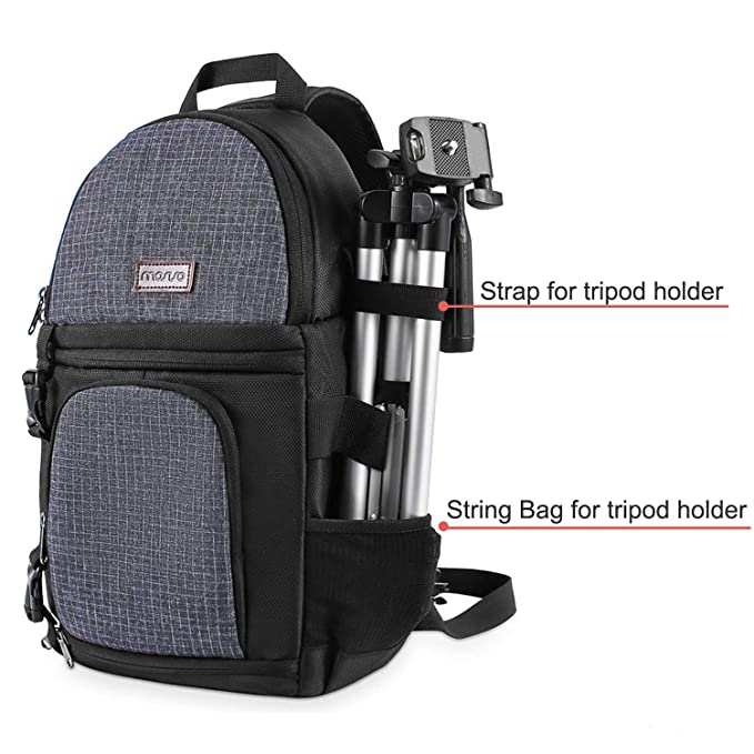 MOSISO Camera Sling Bag, DSLR/SLR/Mirrorless Case Water Repellent Shockproof Backpack with Adjustable Crossbody Strap and Removable Modular Inserts ...