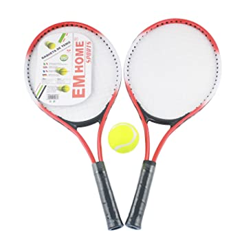 EM HOME KIT 2 RAQUETAS DE TENIS, unisex, raquetas y pelota,+ funda de transporte, para entrenamientos profesionales.: Amazon.es: Deportes y aire libre