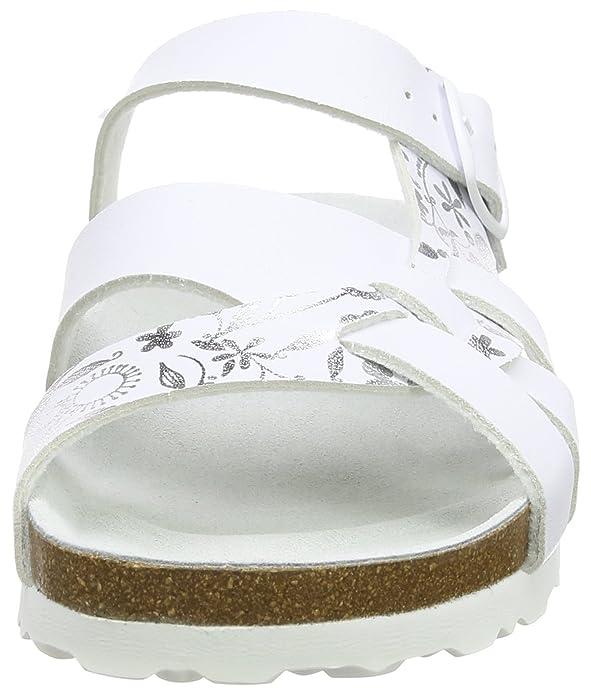 Lic - Flore Bioline, Blanc Femme Chaussures Basses (weiss / Silber), 36 Eu