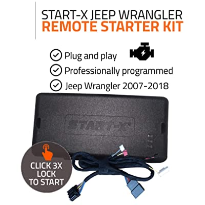 Start-X Remote Starter Kit for Jeep Wrangler Key Start 2007-2020 || Plug & Play || 3X Lock to Remote Start || 10 Minute Install: Car Electronics