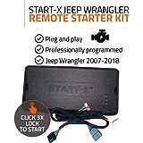 Start-X Remote Starter Kit for Jeep Wrangler Key Start 2007-2018 || Plug & Play || 3X Lock to Remote Start || 10 Minute Insta