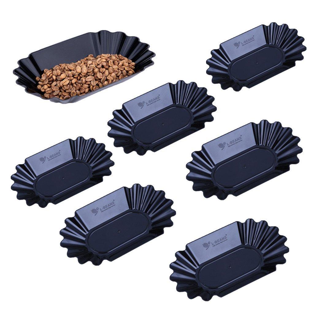 MagiDeal 6pz Vassoio Per Aperitivo Tapas Piatto Ovale Di Servizio Caff/è Vassoio In Plastica PP Nero