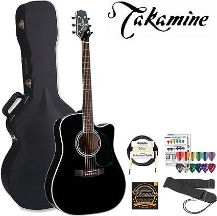 TAKAMINE jb-ef341sc-q1-kit Pro Serie Brillante Negro Acústica ...