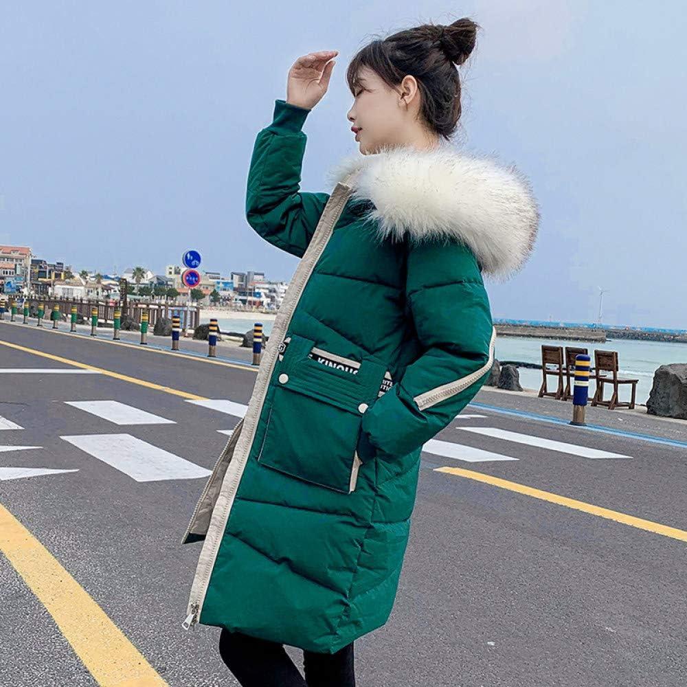 YIHANYI Doudoune Parka pour Femme, Doudoune, Manteau d'hiver pour Femme Manteau Femme Veste zippée ouatinée rembourré Grande Taille vert