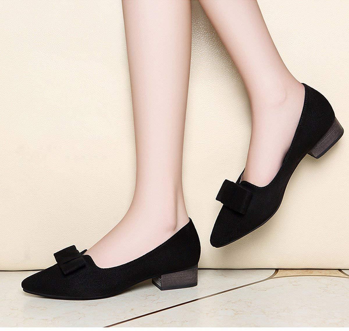 Fuxitoggo Fuxitoggo Fuxitoggo Spitz Schleife Schleife mit meiner Mutter Schuhe schuhe schuhe Schuhe Pedal Schuhe (Farbe   Schwarz Größe   37) 9e2a42